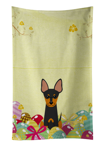 Buy this Easter Eggs English Toy Terrier Kitchen Towel BB6109KTWL