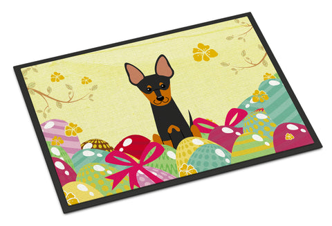 Buy this Easter Eggs English Toy Terrier Indoor or Outdoor Mat 18x27 BB6109MAT