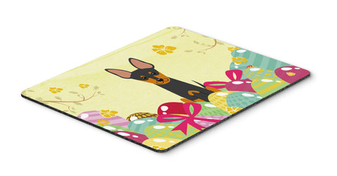 Buy this Easter Eggs English Toy Terrier Mouse Pad, Hot Pad or Trivet BB6109MP