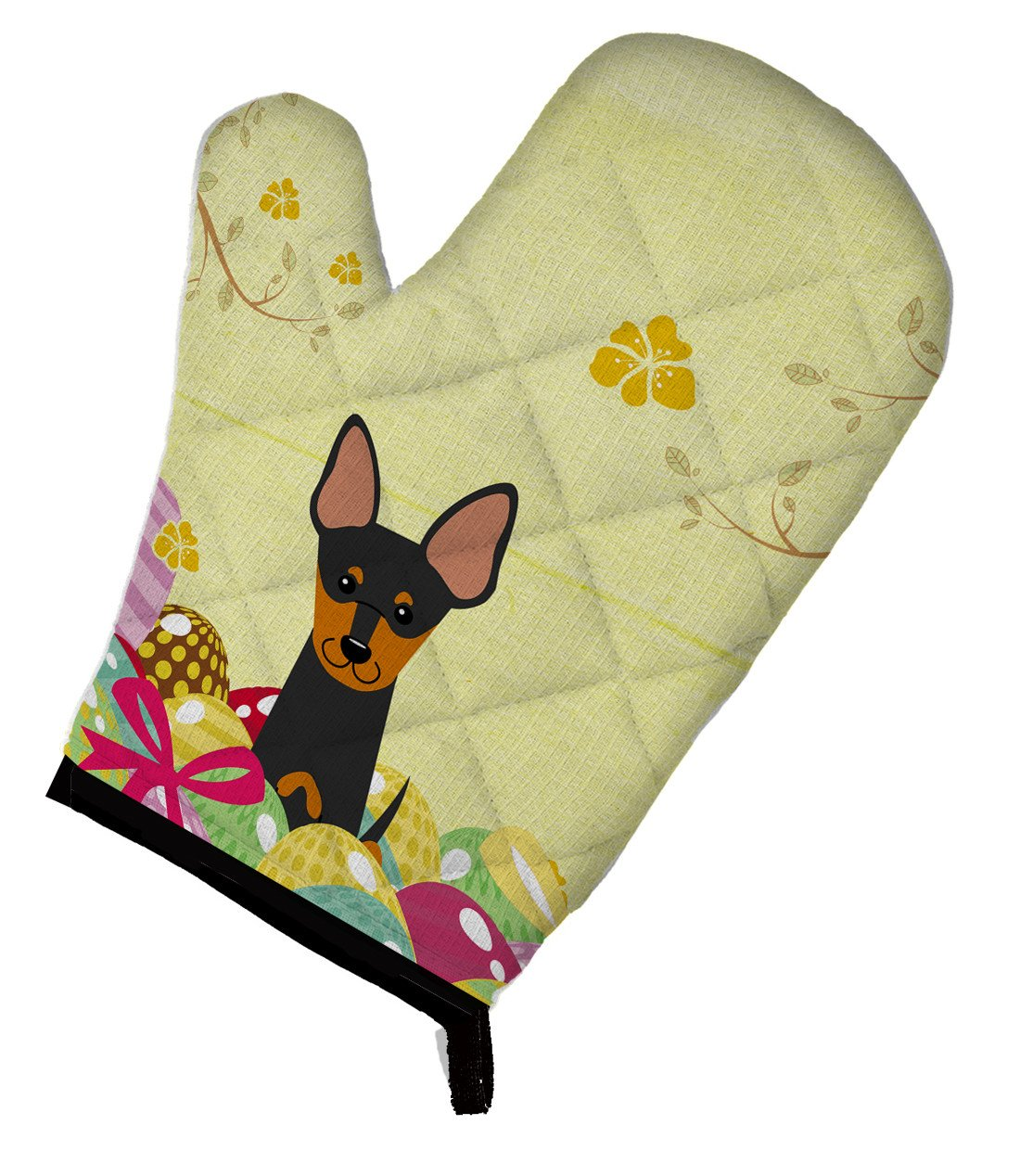 Easter Eggs English Toy Terrier Oven Mitt BB6109OVMT by Caroline's Treasures