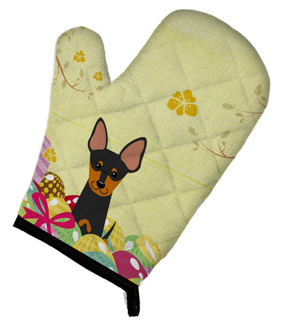 Buy this Easter Eggs English Toy Terrier Oven Mitt BB6109OVMT