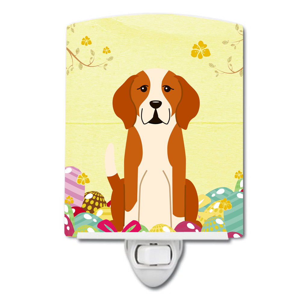 Easter Eggs English Foxhound Ceramic Night Light BB6110CNL by Caroline's Treasures