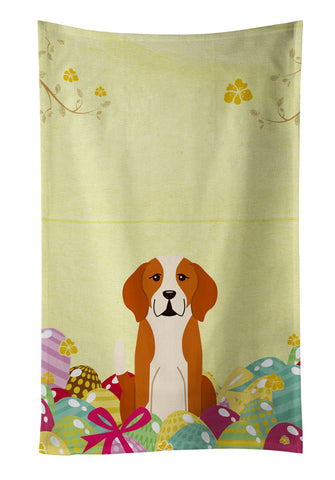 Buy this Easter Eggs English Foxhound Kitchen Towel BB6110KTWL