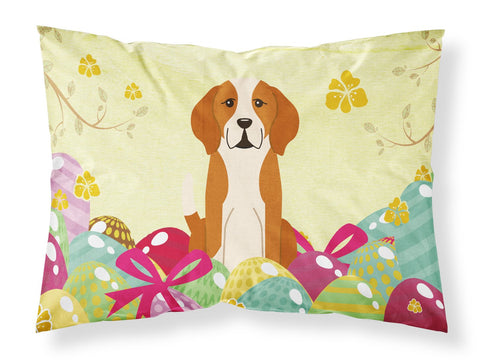 Buy this Easter Eggs English Foxhound Fabric Standard Pillowcase BB6110PILLOWCASE