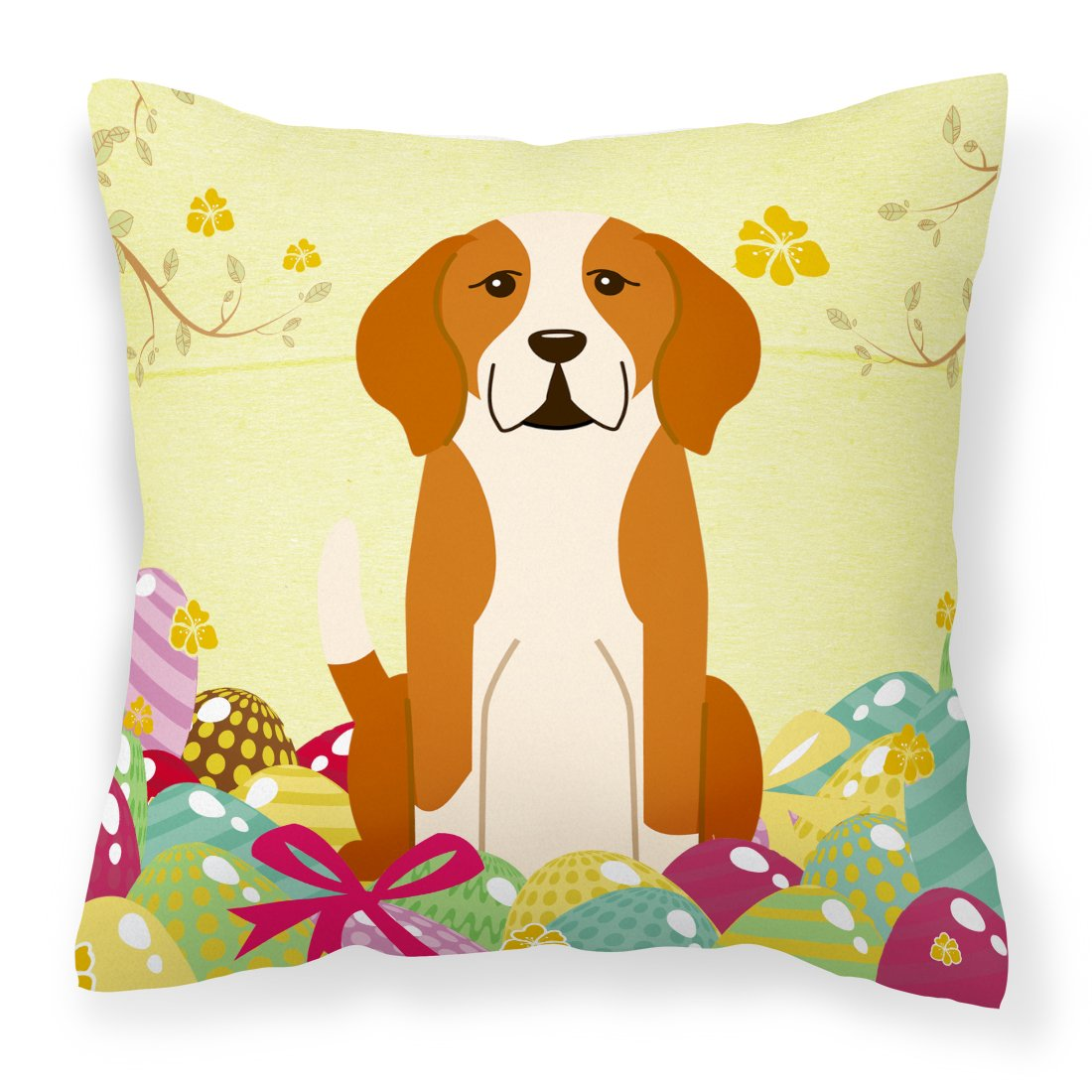 Easter Eggs English Foxhound Fabric Decorative Pillow BB6110PW1818 by Caroline's Treasures