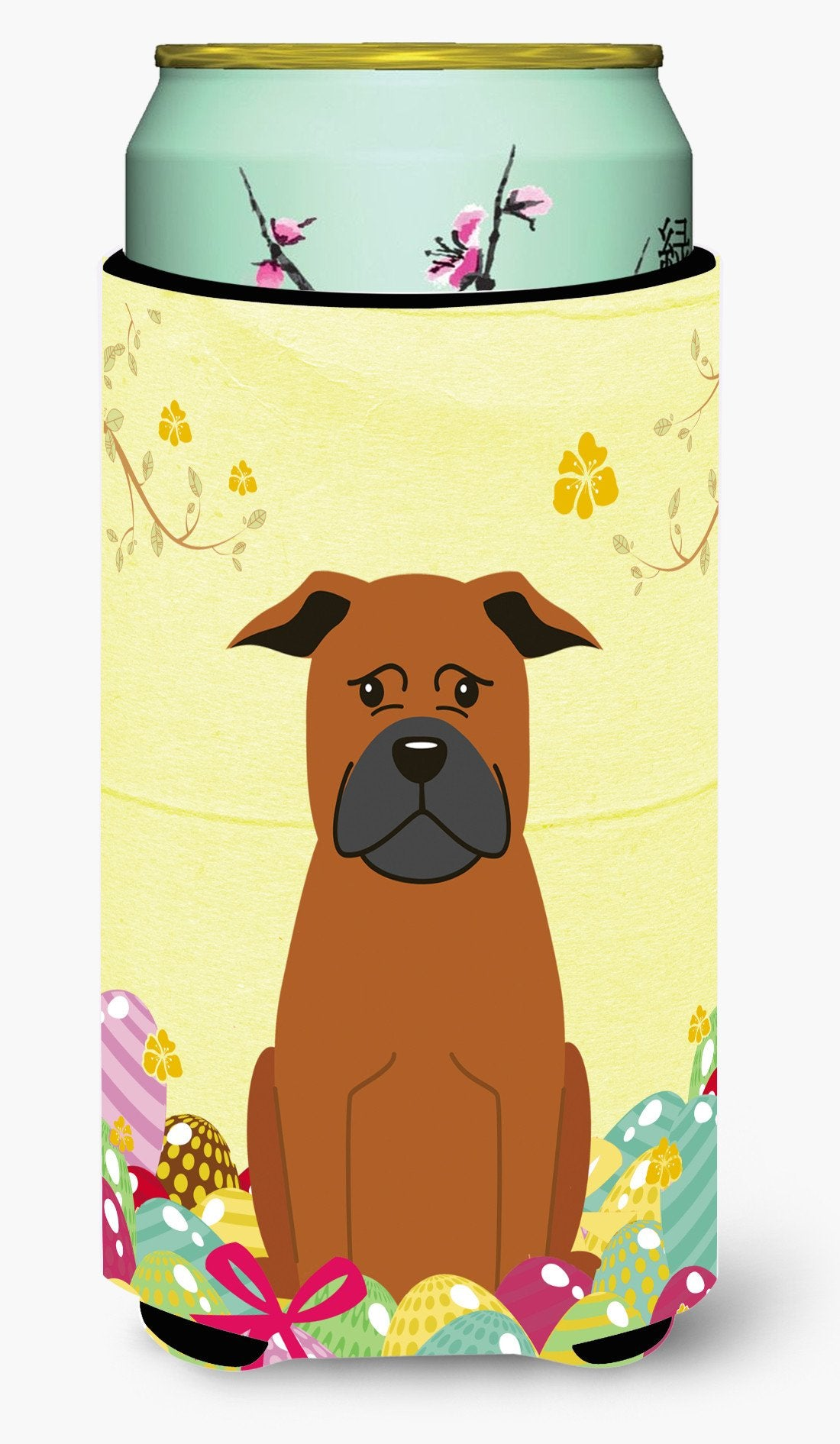 Easter Eggs Chinese Chongqing Dog Tall Boy Beverage Insulator Hugger BB6111TBC by Caroline's Treasures