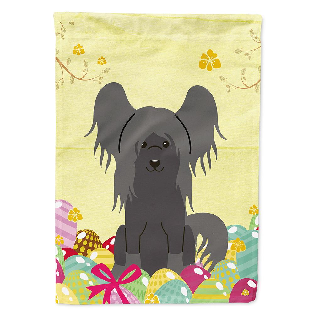 Buy this Easter Eggs Chinese Crested Black Flag Garden Size BB6112GF
