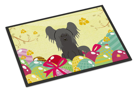 Buy this Easter Eggs Chinese Crested Black Indoor or Outdoor Mat 18x27 BB6112MAT