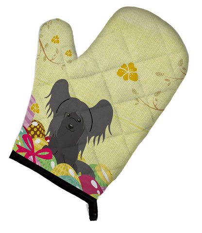 Buy this Easter Eggs Chinese Crested Black Oven Mitt BB6112OVMT