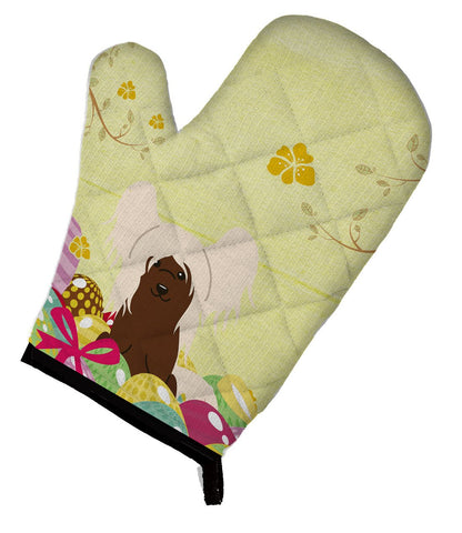 Buy this Easter Eggs Chinese Crested Cream Oven Mitt BB6113OVMT