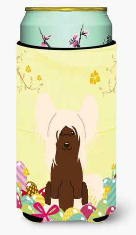 Buy this Easter Eggs Chinese Crested Cream Tall Boy Beverage Insulator Hugger BB6113TBC