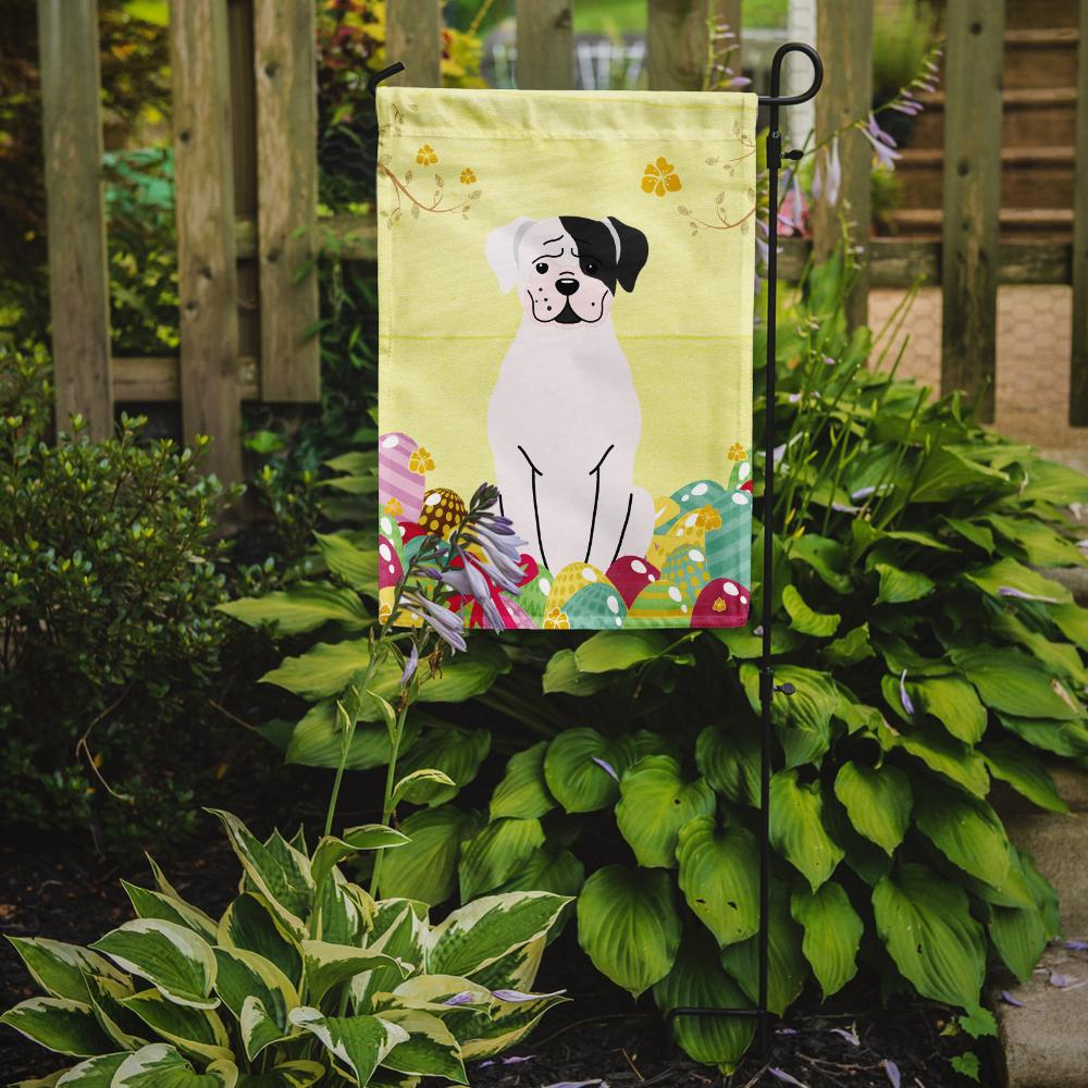 Easter Eggs White Boxer Cooper Flag Garden Size BB6114GF by Caroline's Treasures