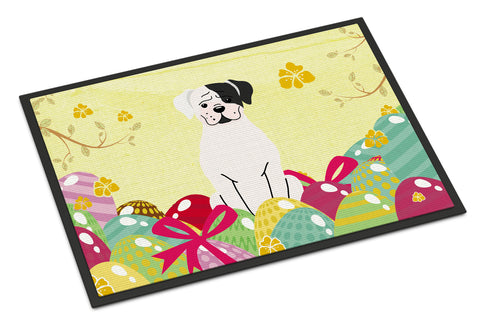 Buy this Easter Eggs White Boxer Cooper Indoor or Outdoor Mat 18x27 BB6114MAT