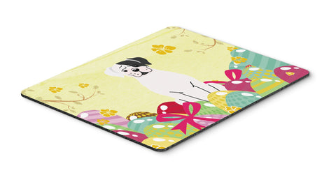Buy this Easter Eggs White Boxer Cooper Mouse Pad, Hot Pad or Trivet BB6114MP