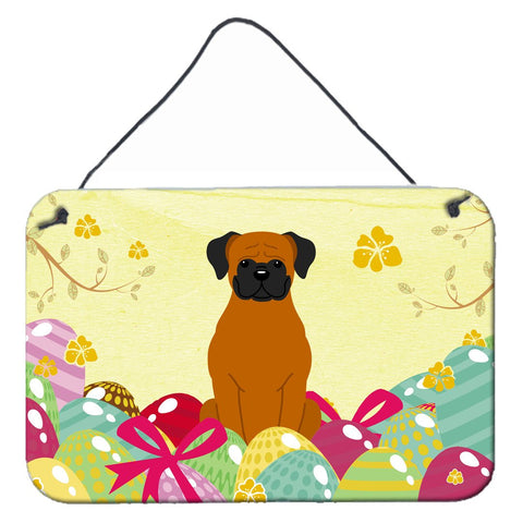 Buy this Easter Eggs Fawn Boxer Wall or Door Hanging Prints BB6115DS812