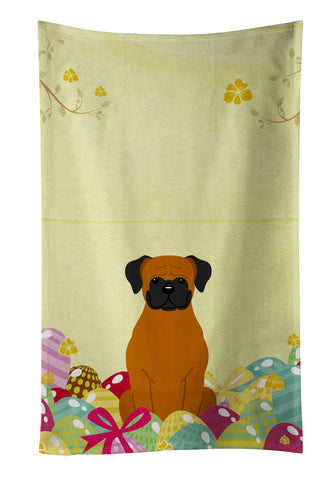 Buy this Easter Eggs Fawn Boxer Kitchen Towel BB6115KTWL