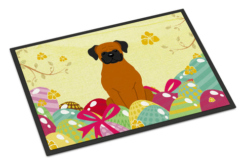Buy this Easter Eggs Fawn Boxer Indoor or Outdoor Mat 18x27 BB6115MAT