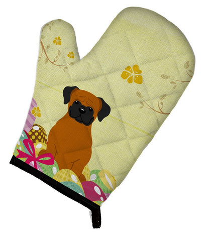 Buy this Easter Eggs Fawn Boxer Oven Mitt BB6115OVMT