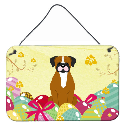 Buy this Easter Eggs Flashy Fawn Boxer Wall or Door Hanging Prints BB6116DS812