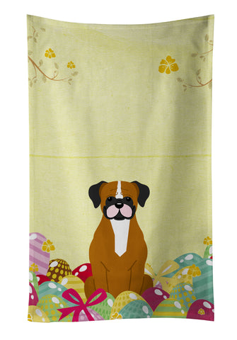 Buy this Easter Eggs Flashy Fawn Boxer Kitchen Towel BB6116KTWL