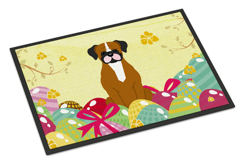 Buy this Easter Eggs Flashy Fawn Boxer Indoor or Outdoor Mat 18x27 BB6116MAT