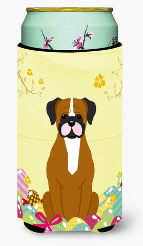 Buy this Easter Eggs Flashy Fawn Boxer Tall Boy Beverage Insulator Hugger BB6116TBC