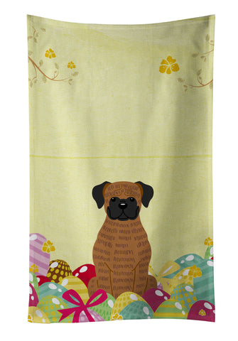 Buy this Easter Eggs Brindle Boxer Kitchen Towel BB6117KTWL