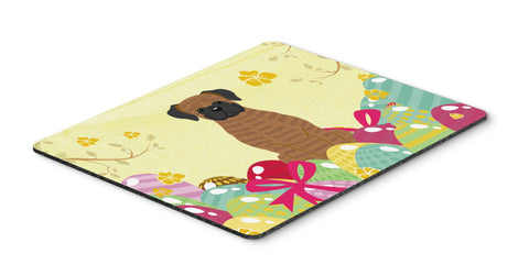 Buy this Easter Eggs Brindle Boxer Mouse Pad, Hot Pad or Trivet BB6117MP