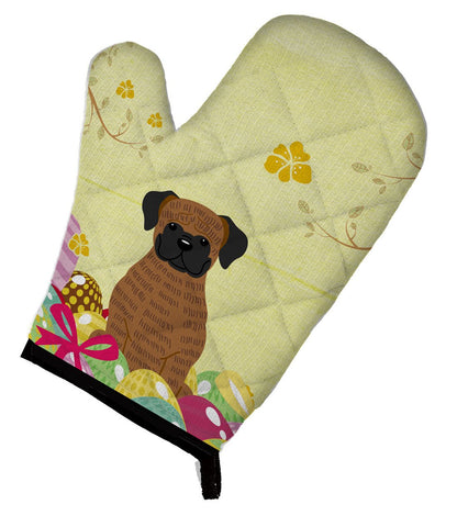 Buy this Easter Eggs Brindle Boxer Oven Mitt BB6117OVMT