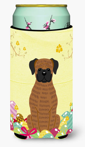 Buy this Easter Eggs Brindle Boxer Tall Boy Beverage Insulator Hugger BB6117TBC