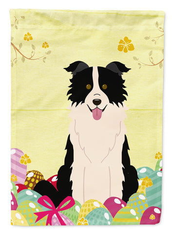 Buy this Easter Eggs Border Collie Black White Flag Garden Size BB6118GF