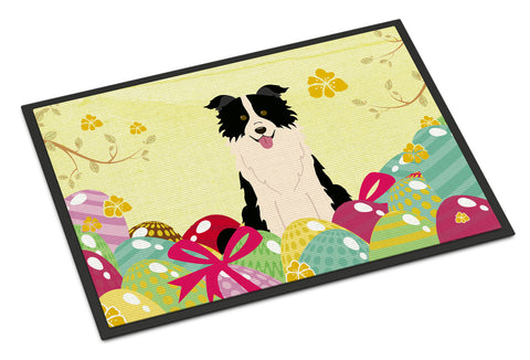 Buy this Easter Eggs Border Collie Black White Indoor or Outdoor Mat 18x27 BB6118MAT
