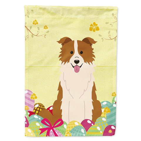 Buy this Easter Eggs Border Collie Red White Flag Garden Size BB6119GF