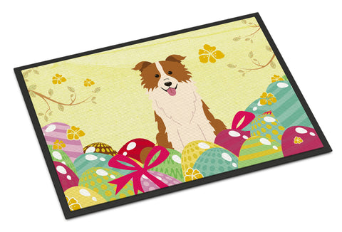Buy this Easter Eggs Border Collie Red White Indoor or Outdoor Mat 18x27 BB6119MAT