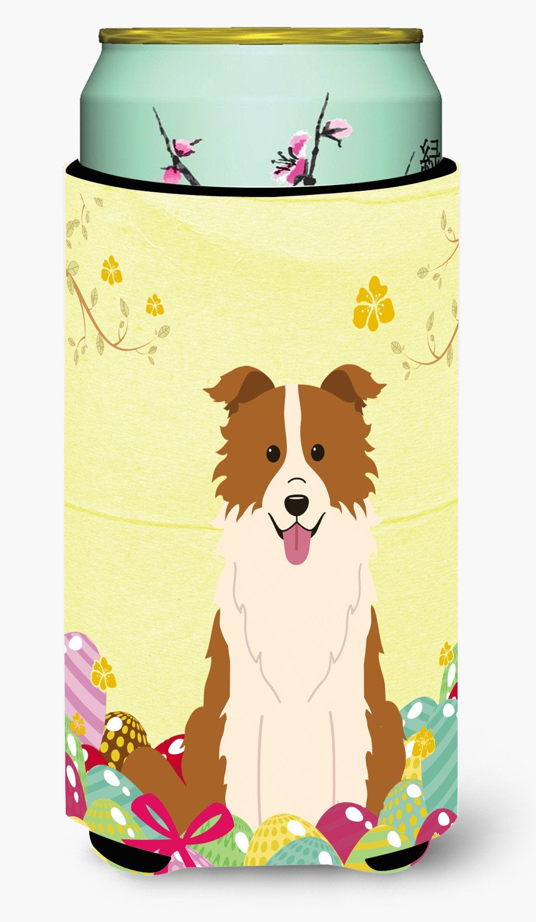 Easter Eggs Border Collie Red White Tall Boy Beverage Insulator Hugger BB6119TBC by Caroline's Treasures