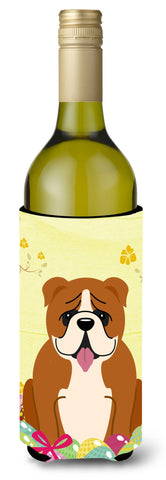 Buy this Easter Eggs English Bulldog Red White Wine Bottle Beverge Insulator Hugger BB6120LITERK