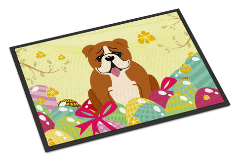 Buy this Easter Eggs English Bulldog Red White Indoor or Outdoor Mat 18x27 BB6120MAT