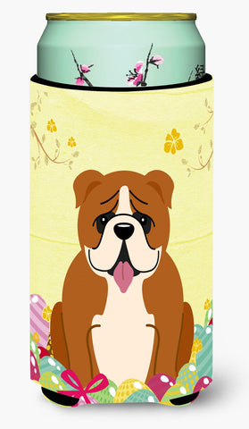 Buy this Easter Eggs English Bulldog Red White Tall Boy Beverage Insulator Hugger BB6120TBC