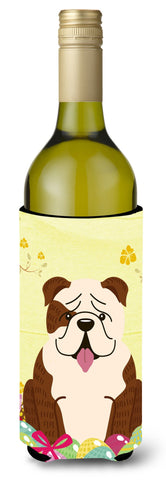 Buy this Easter Eggs English Bulldog Brindle White Wine Bottle Beverge Insulator Hugger BB6121LITERK