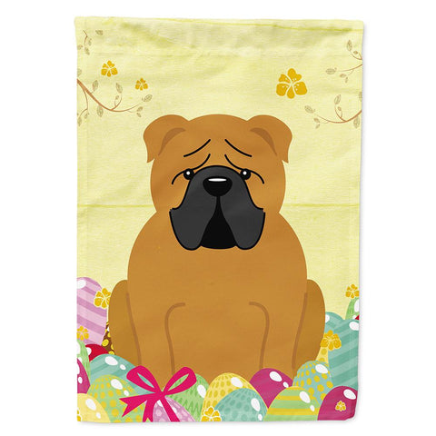 Buy this Easter Eggs English Bulldog Red Flag Garden Size BB6122GF