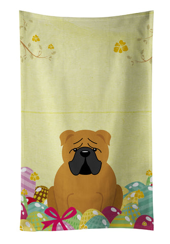 Buy this Easter Eggs English Bulldog Red Kitchen Towel BB6122KTWL
