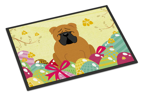 Buy this Easter Eggs English Bulldog Red Indoor or Outdoor Mat 18x27 BB6122MAT