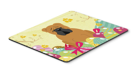 Buy this Easter Eggs English Bulldog Red Mouse Pad, Hot Pad or Trivet BB6122MP