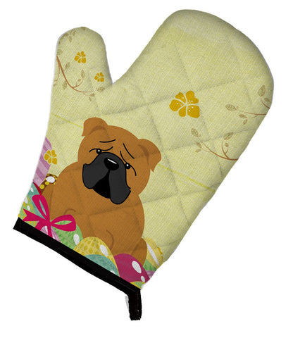 Buy this Easter Eggs English Bulldog Red Oven Mitt BB6122OVMT