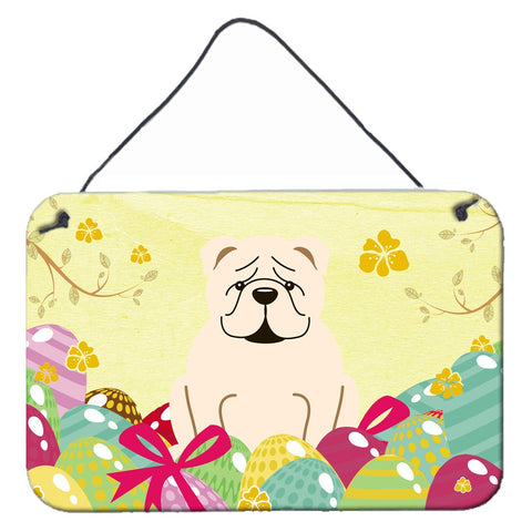 Buy this Easter Eggs English Bulldog White Wall or Door Hanging Prints BB6123DS812