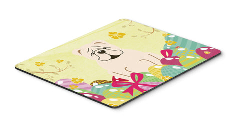 Buy this Easter Eggs English Bulldog White Mouse Pad, Hot Pad or Trivet BB6123MP