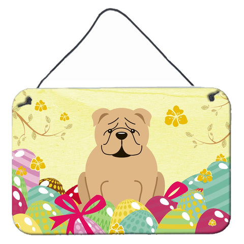 Buy this Easter Eggs English Bulldog Fawn Wall or Door Hanging Prints BB6124DS812