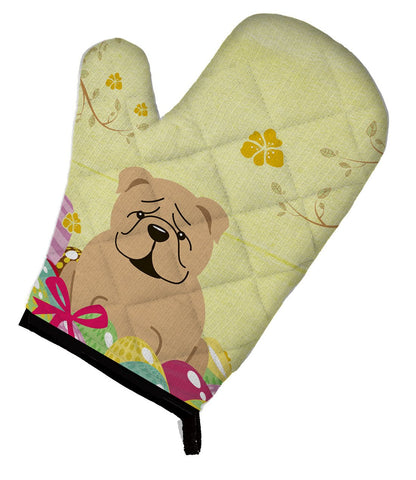 Buy this Easter Eggs English Bulldog Fawn Oven Mitt BB6124OVMT