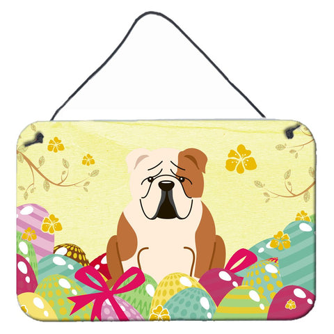 Buy this Easter Eggs English Bulldog Fawn White Wall or Door Hanging Prints BB6125DS812