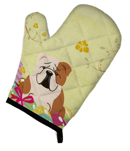 Buy this Easter Eggs English Bulldog Fawn White Oven Mitt BB6125OVMT
